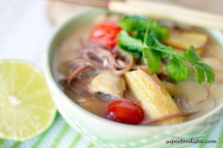 Coconut-Lemongrass Soup with Buckwheat Noodles (Tom Ka)