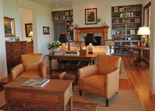 Home Farm 1 - traditional - family room - charleston - Alix Bragg Interior Design