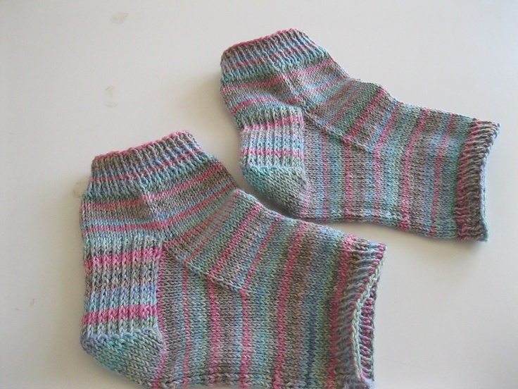 Knitting Pattern For Pedicure Socks : My variation of spa/pedicure socks. My Completed ...