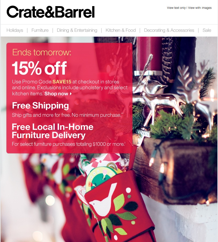 crate and barrel valentine day decor