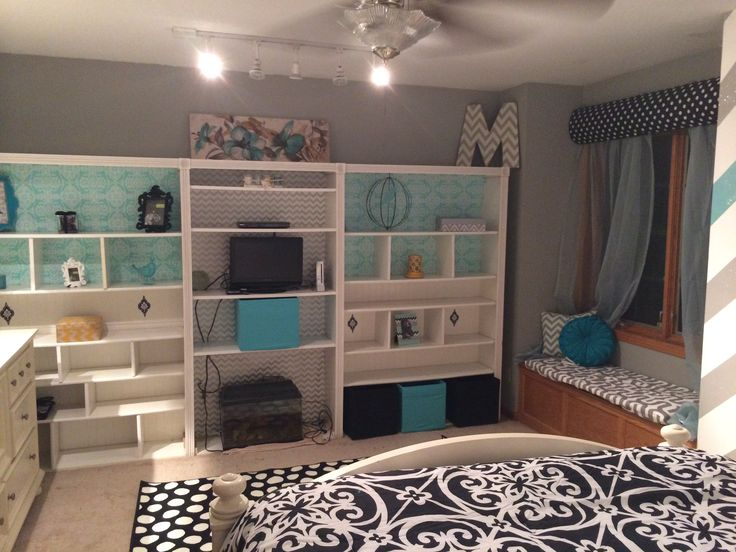 Teen Girl Room Chevron Wall Blue Gray Room Ideas Pinterest