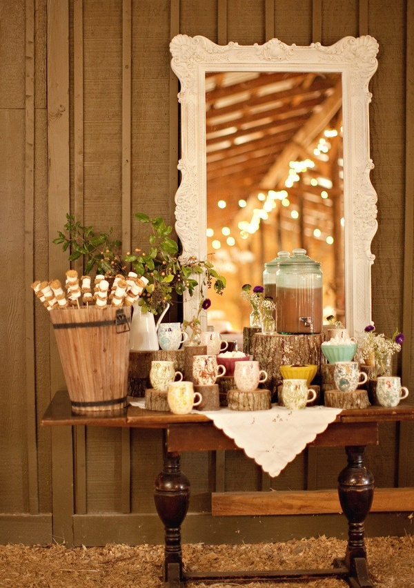 Coffee bar at reception wedding decor ideas pinterest for Coffee bar at wedding reception