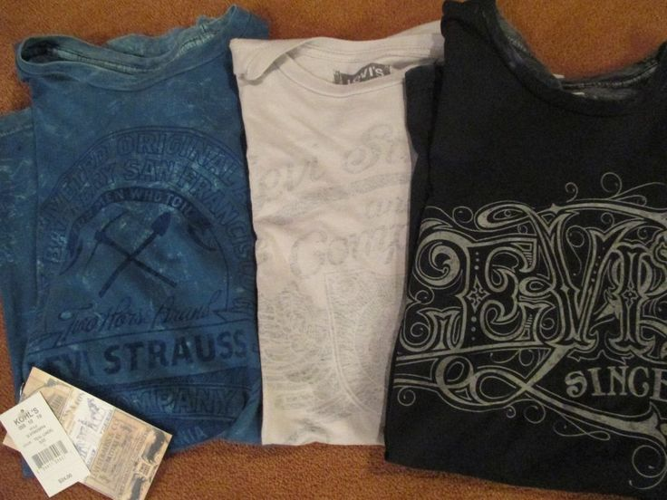 Graphic T-Shirts large 3 Black Gray Blue Levi Strauss Graphics For Men