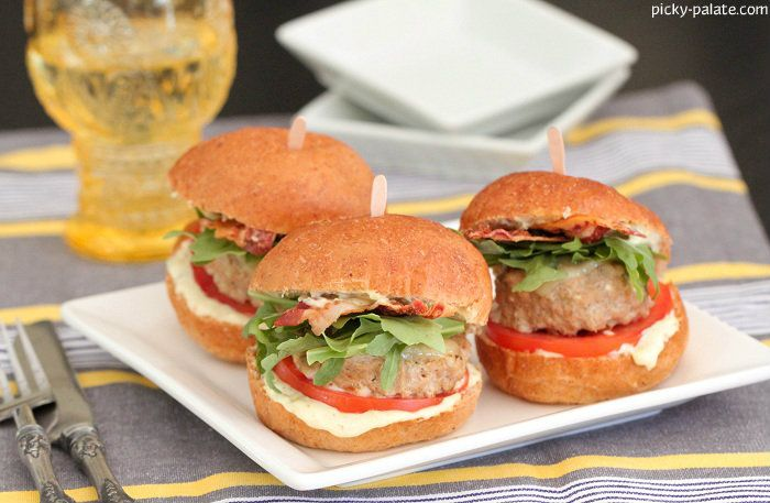 Adobo Feta BLT Turkey Burgers/Sliders! Make them as big or small as ...
