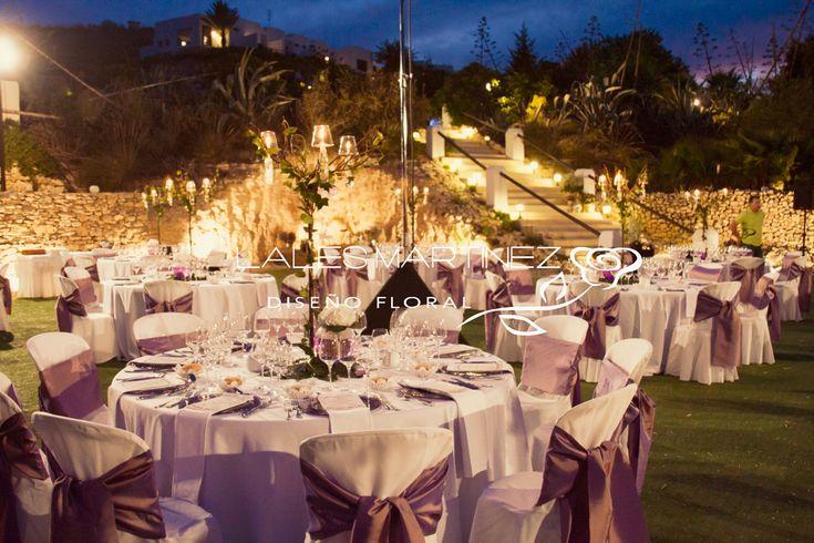 Decoraci n de boda centros de mesa decoraciones de - Decoraciones de salones ...