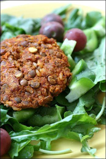 Easy Lentil Veggie Burgers (vegan)