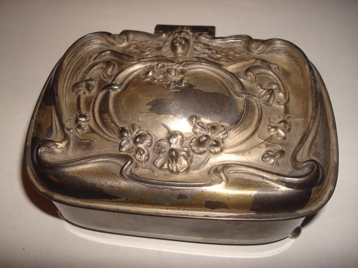 Victor Silver Co Quadruple Plate May 1905 Angel Face Flowers Jewelry ...