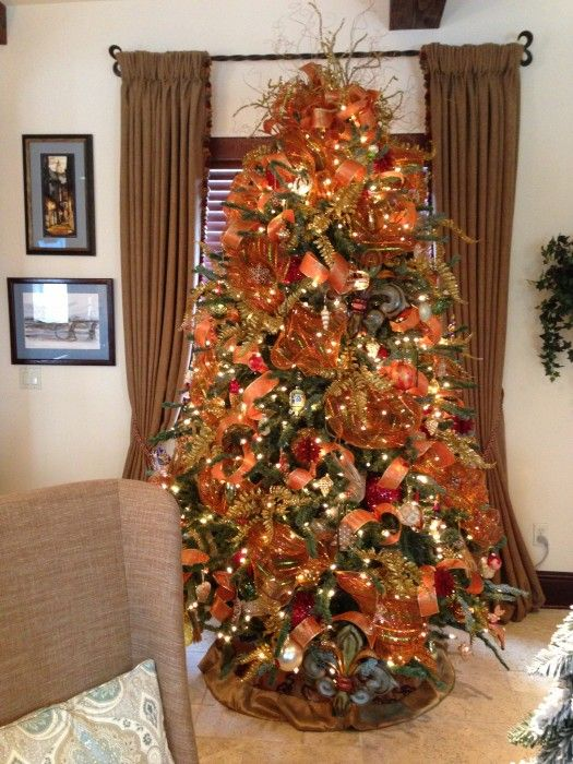 orange christmas tree for the home pinterest