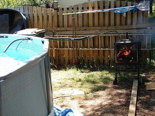 Heater diy custom wood pool heater diy outdoor nice for Garden pool water heater
