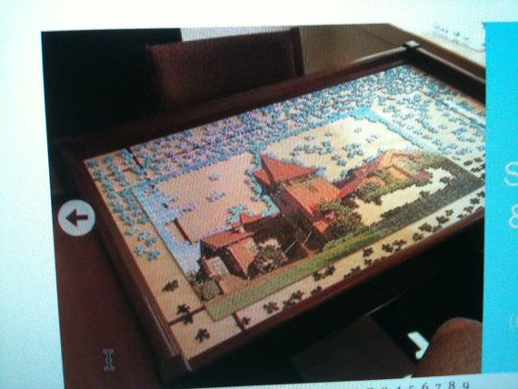 Search for jigsaw puzzle table with drawers