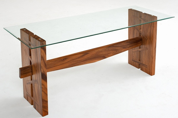 Mitchell Gold Console Table Natural wood desk made contemporary | Woodworking | Pinterest