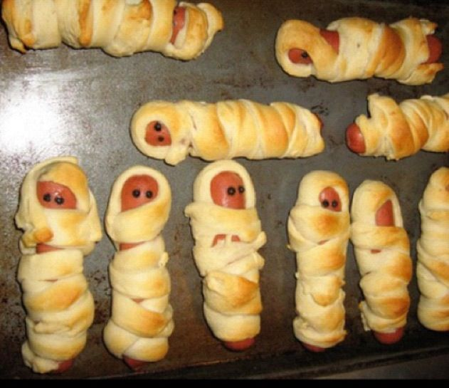 Mummies in a blanket... Hehe | Halloween | Pinterest