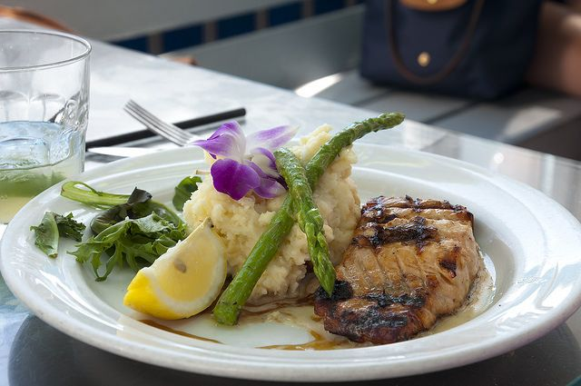 Atlantic Salmon with Mashed Potatoes, asparagus by Pat Durkin - Orange ...