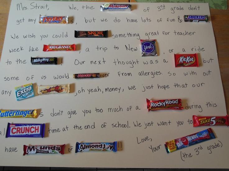 Candy Bar Poems for Boyfriend