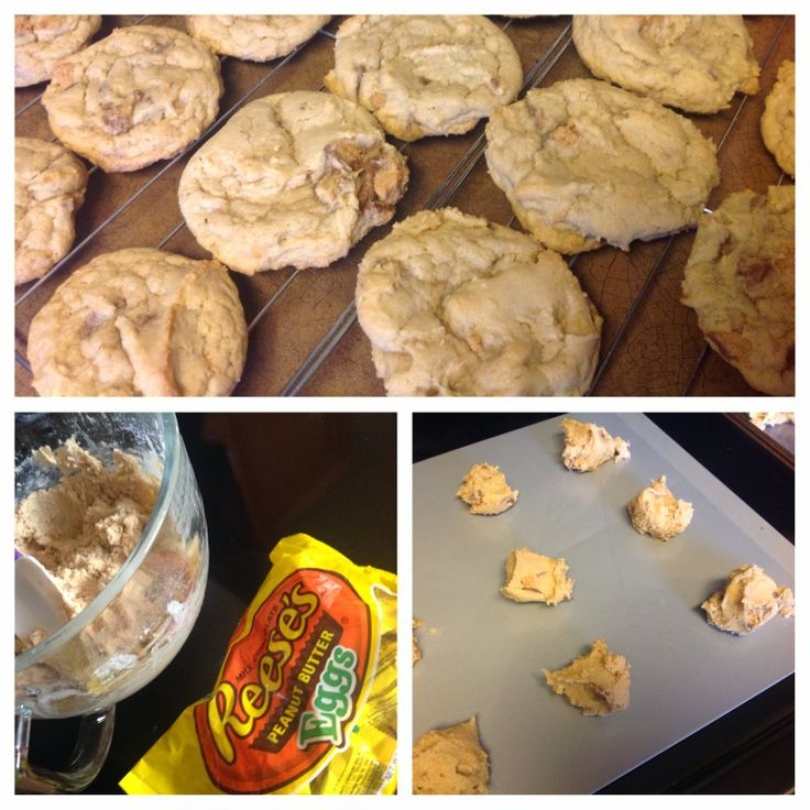 Reese's Peanut Butter Egg Cookies | From my Blog | Pinterest