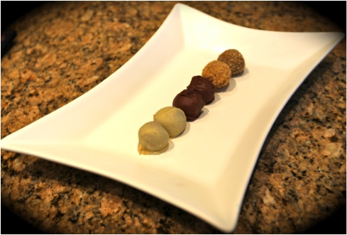 Pecan pie truffles and pumpkin pie truffles