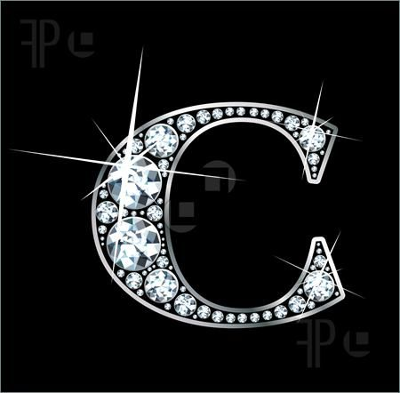 U Alphabet In Diamond Diamond Letter