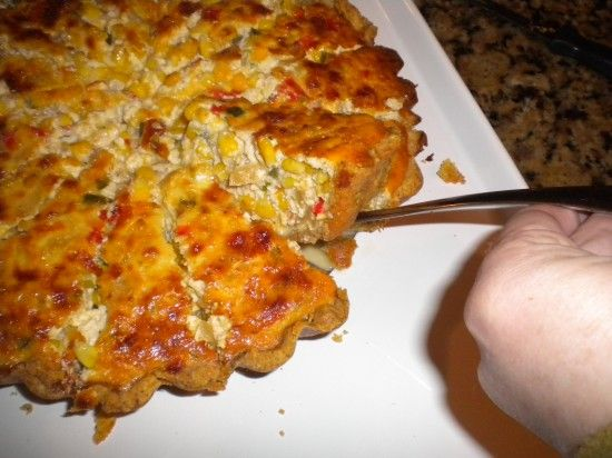 Southwestern Corn Quiche | Join me for.... | Pinterest