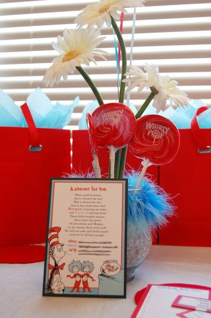 the cat in the hat baby shower party ideas