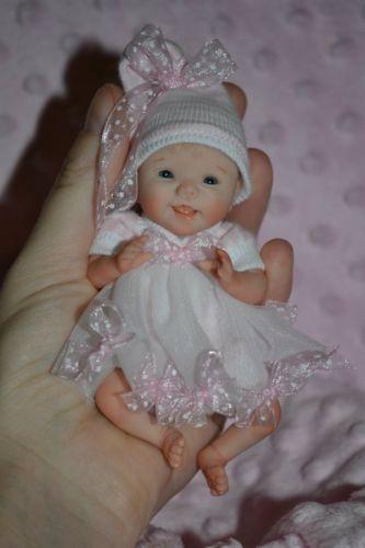 Original art ooak polymer clay baby doll girl 4 5 quot georgia by yulia s