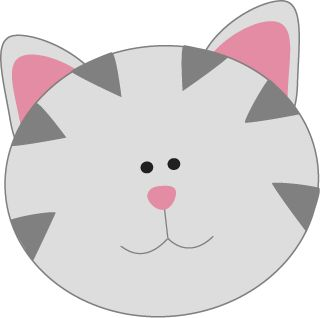 Gray Kitty Cat Face Face | Clipart | Pinterest