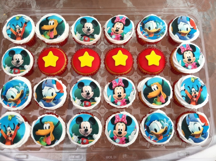 Found on Uploaded by userMickey Mouse 1st Birthday Cupcakes