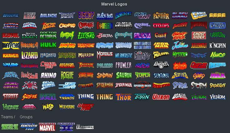 Marvel Heroes Logos | GEEK LIFE | Pinterest