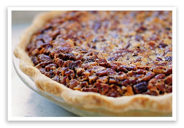 Super easy chocolate bourbon pecan pie with pie shell!