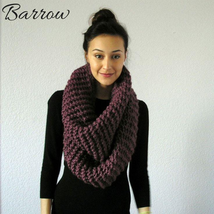 Knitting A Chunky Scarf : Chunky knit infinity scarf à créer pinterest