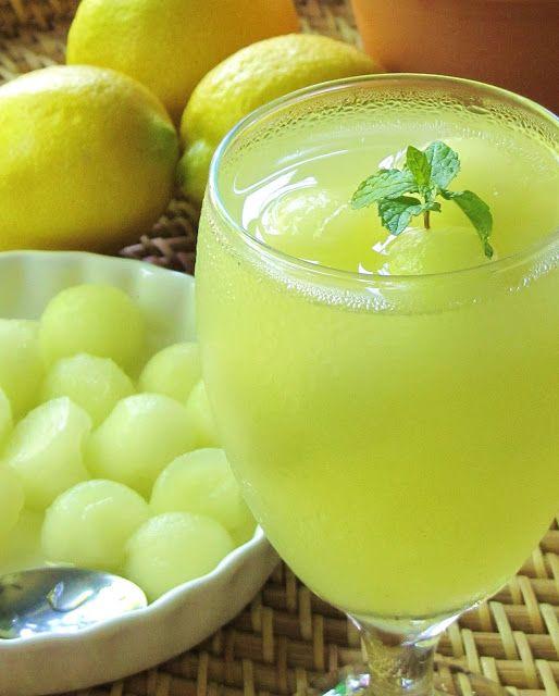 Melon-Ginger-Mint Lemonade | Drinks | Pinterest