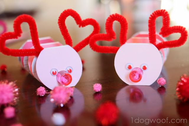 valentine paint chip bookmarks