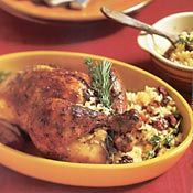 Roast Chicken with Rice and Fruit Stuffing, Recipe from Cooking.com