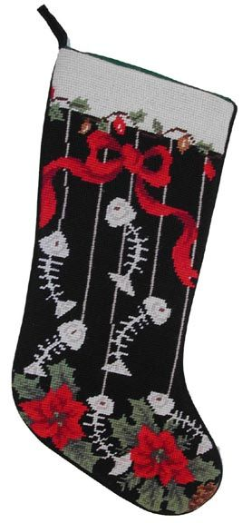 Pin by cata on tejidos artesan as bordados y mas pinterest for Fish christmas stocking