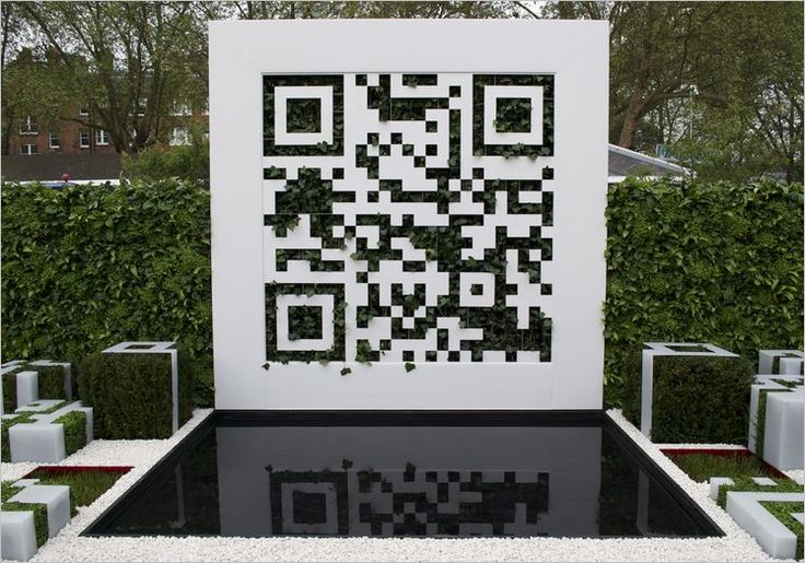 QR Code garden at Chelsea Flower Show 2012