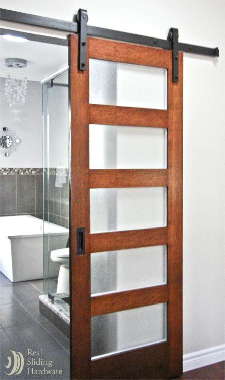 Master Bathroom Sliding Barn Door Home Decor Pinterest
