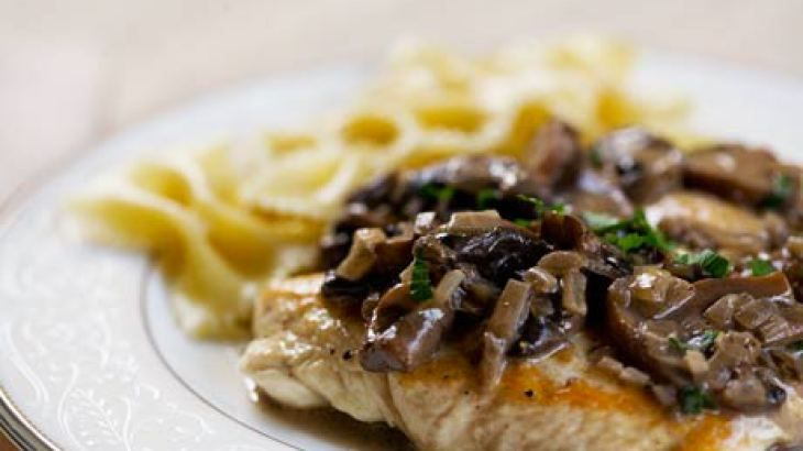 Chicken Breasts with Mushroom Sage Sauce | Yummo! | Pinterest
