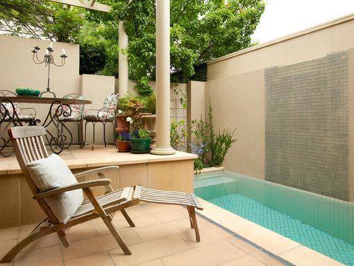 piscinas pequenas pequena rea de lazer pinterest