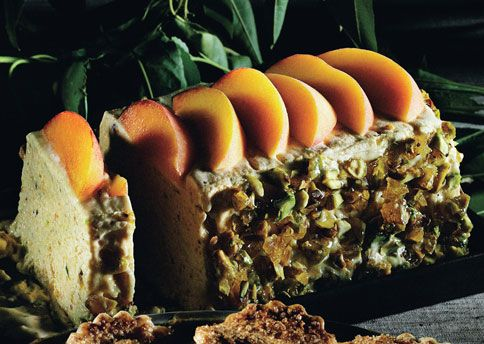 Peach and Pistachio Praline Semifreddo | Recipe