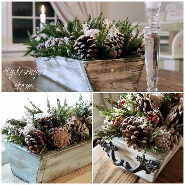 Winter centerpiece table centerpieces pinterest