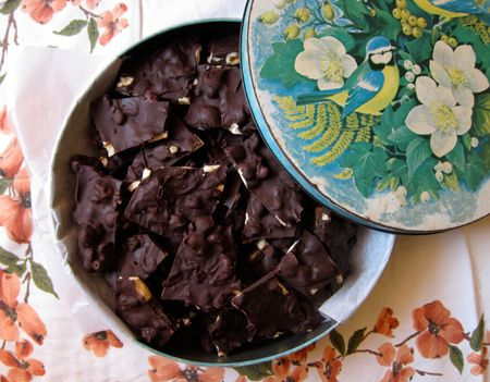 Chocolate fruit and nut bark | Desserts! | Pinterest