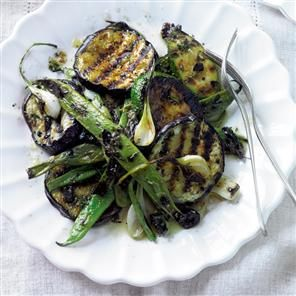 Chargrilled marinated late-summer vegetables