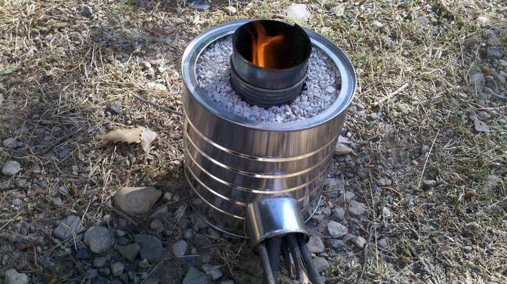 Home made rocket stove it 39 s just cool pinterest for Jet stove diy