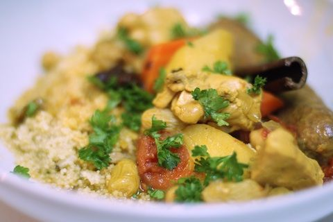 Couscous With Chicken Sausage And Mixed Veggies Recipe ...
