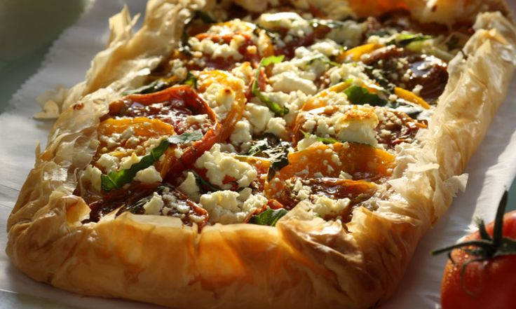 Vegetable Filo Pastry Tart Recipe — Dishmaps