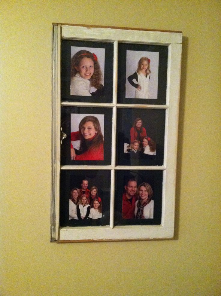 Picture frame using old window my pinterest projects for Using old windows as picture frames