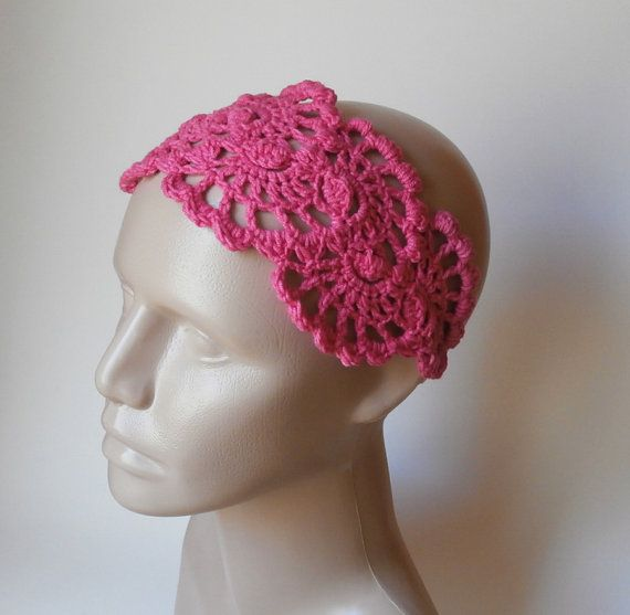 Crochet Hair Accessories Video : Crochet HairBand - Crochet HeadBand - Hair Accessories - Crochet Hair ...