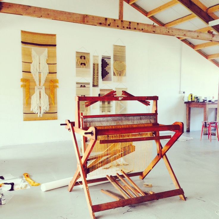 Workshop studio space of weaver Justine Ashbee & Native Line Weavings