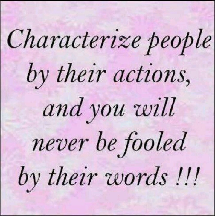 Actions speak louder t...