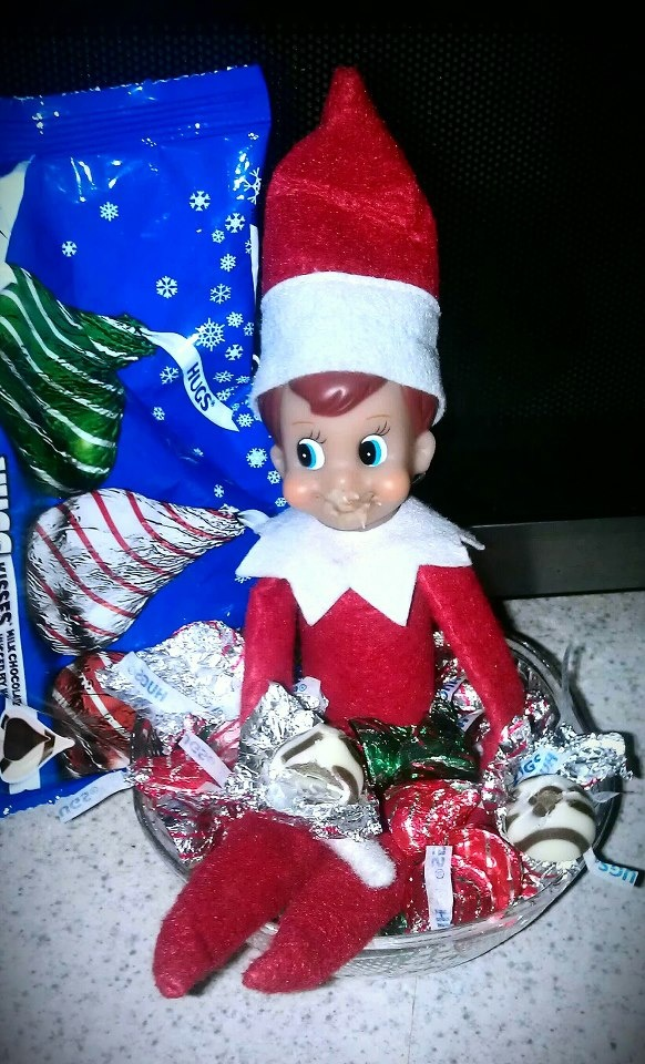 Eating my hershey kisses elf on the shelf ideas for Elf on the shelf chocolate kiss