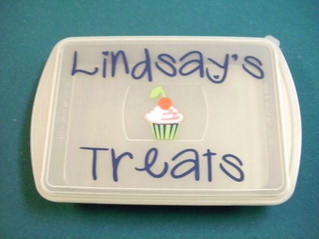 Personalized Vinl Decal with cupcake or cake by scrapsoflovebyjen, $7.00